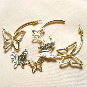 3 for $15 Butterfly Hoops